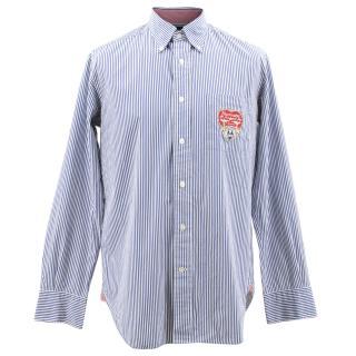 Faconnable Blue Pinstriped Shirt