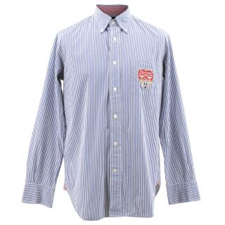Faconnable Blue Pinstriped Shirt