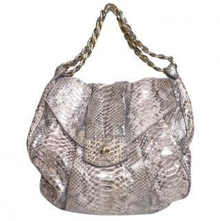 ZAGLIANI METALLIC SNAKESKIN BAG