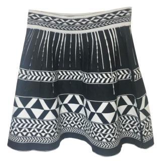 Maje Abstract Print Skirt
