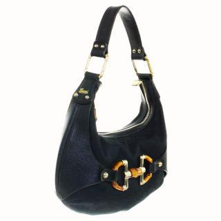 Gucci Amalfi bag black canvas/leather