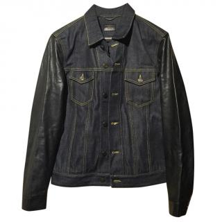 Saint Laurent Mens Denim & Leather Jacket