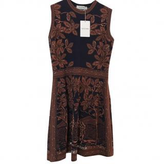 Valentino giraffe print dress