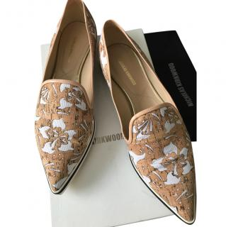Nicholas Kirkwood Floral Laser Cut Loafers