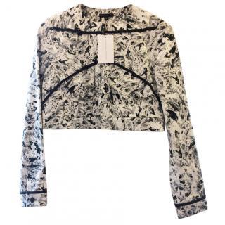Jonathan Saunders Black & White Denim Jacket