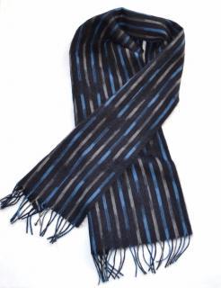 Bottega Veneta Striped Alpaca & Wool Scarf