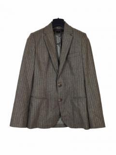 Ralph Lauren Pinstripe Wool Grey Jacket
