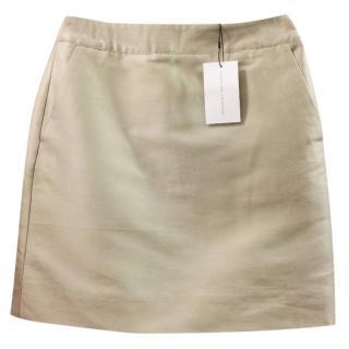 Jonathan Saunders Silver  Silk Skirt