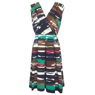 Oscar de la Renta multi colour dress