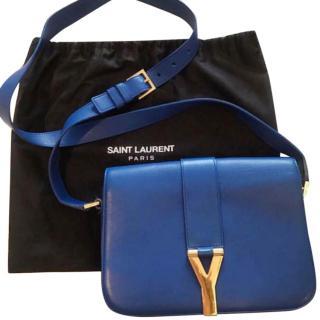 Saint Laurent  blue messenger bag