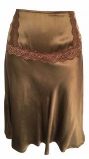 Essentiel Antwerp Dark Gold Silk Skirt