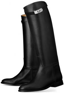 Hermes Black Leather Jumping Boots