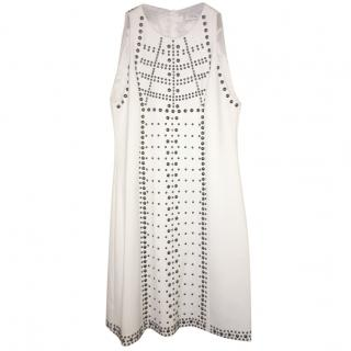 Versace White Studded Dress