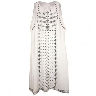 Versace White Studded Dress