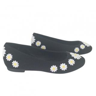 Dolce & Gabbana daisy ballerina pumps