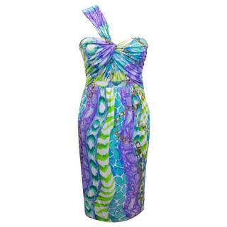 Bluemarine One Shoulder Dress