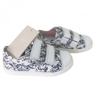 Armani Juinor fantasia pattern sneakers