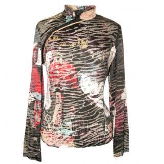 Just Cavalli silk mix blouse, size 46
