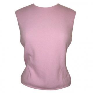 BALLENTYNE baby pink cashmere jumper, (size 4)