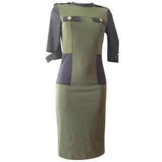 VICTORIA Victoria Beckham black/green dress size S