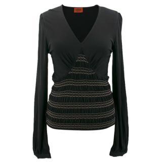 Missoni black knit top