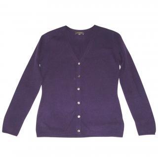 N.PEAL purple cashmere cardigan