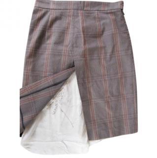 Marni silk lined cotton  prince of wales check skirt.