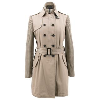 Fay Beige Trench Style Coat