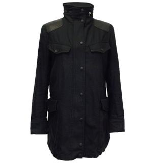 Rag and Bone Black Hooded Jacket
