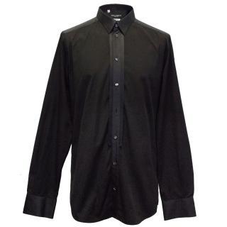 Dolce & Gabbana Gold Black Shirt