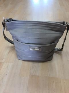 Anya Hindmarsh stone leather shoulder bag