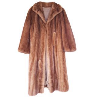 Saga mink pelt fur coat 12 -14