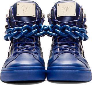 Giuseppe Zanotti Blue High-Top Sneaker