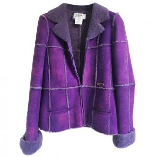 Chanel leather coat