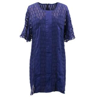Anna Sui Blue Patterned Tunic