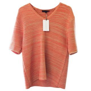 Jonathan Saunders Knitted Short Sleeve V-Neck Top