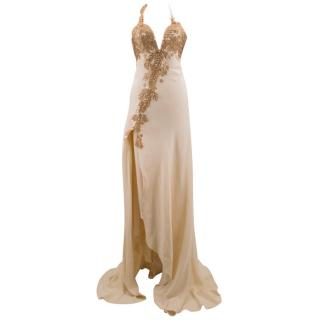 Bespoke Embroidered Cream Gown