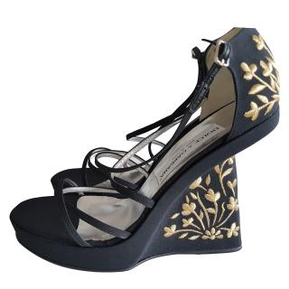 Dolce and gabbana jacquard wedges size uk7 eu40