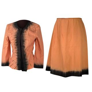 prada ombre top and skirt