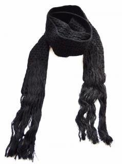 Bottega Veneta runway black long wool scarf