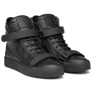 Giuseppe Zanotti Matte Black High-Top Sneaker