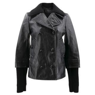 YSL Black Leather Jacket