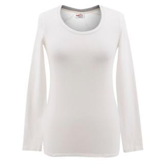 Prada White Long Sleeved Top
