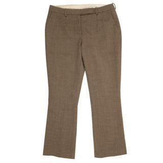 Antonio Berardi Brown Straight- Leg Trousers