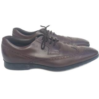 Tods brown classic soft leather lace up brogues