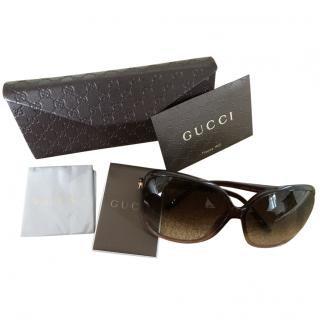Gucci oversized gradient sunglasses