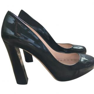 Miu Miu Black Patent Court Shoes