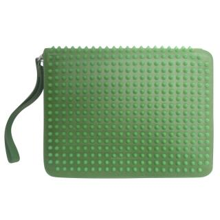 Christian Louboutin green cris case calf leather