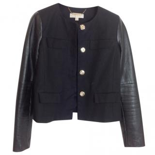 Michael By Michael Kors Black jacket with leather sleeves