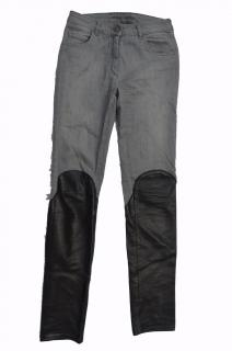 MM6 leather panel jeans